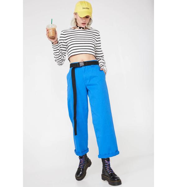 Dickies Girl Sapphire Work Crop Roll Hem Pants