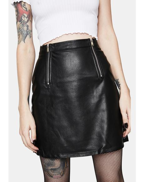 Never Let U Go Faux Leather Mini Skirt