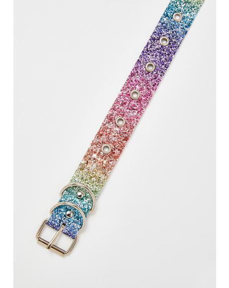 Rainbow Cutie Glitter Choker