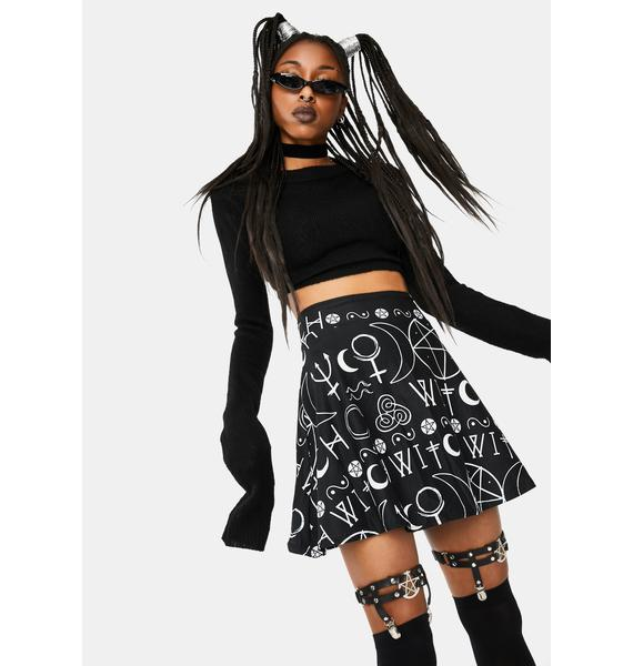 Too Fast Imma Witch Skater Skirt
