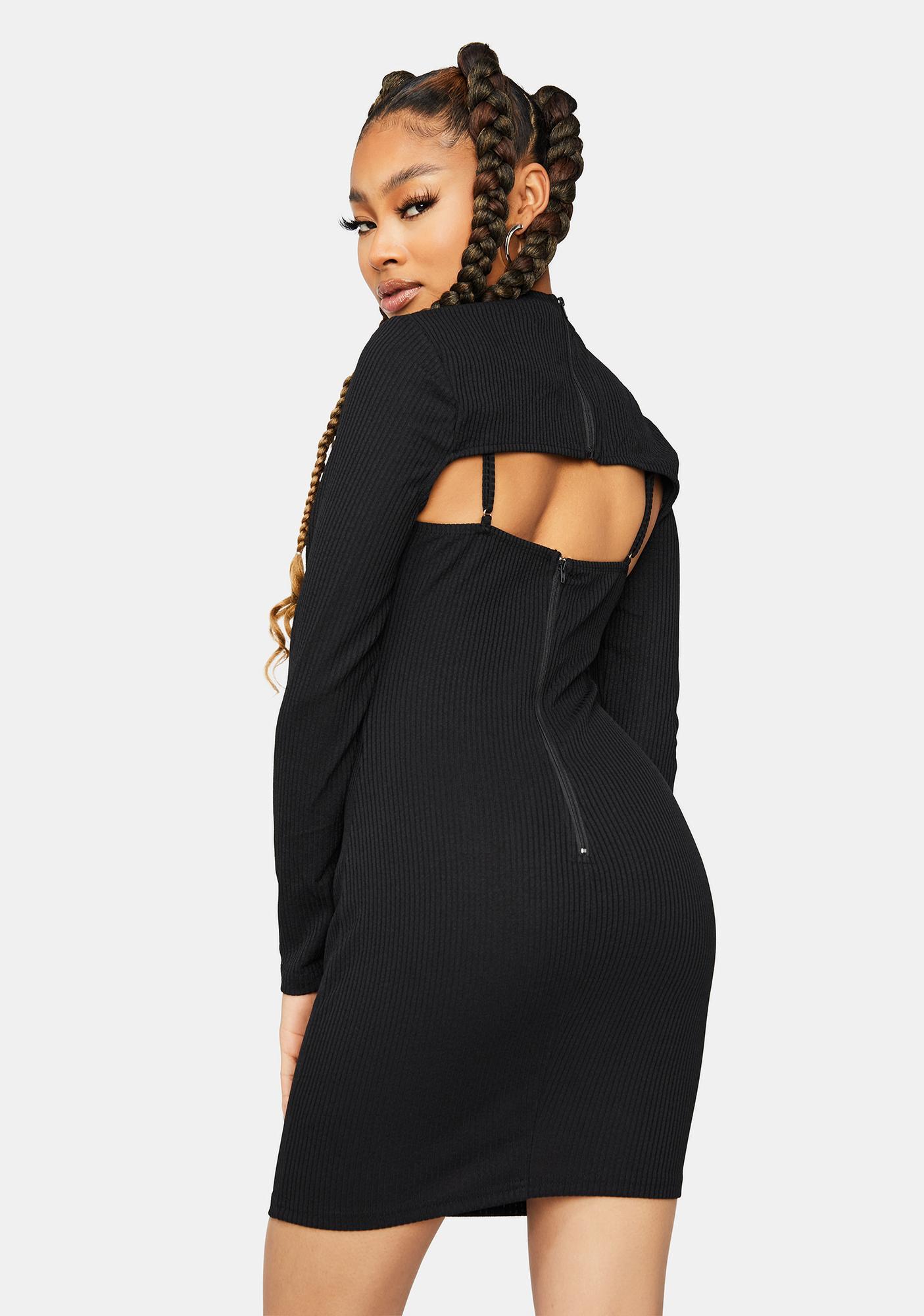 Get Verified Bodycon Dress And Shrug Set