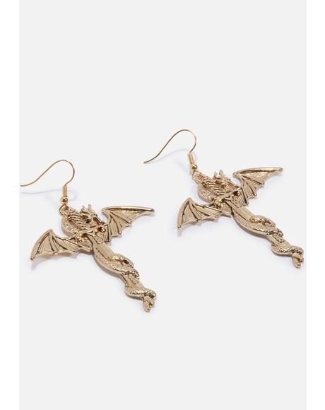 Goth's Best Friend Drop Earrings