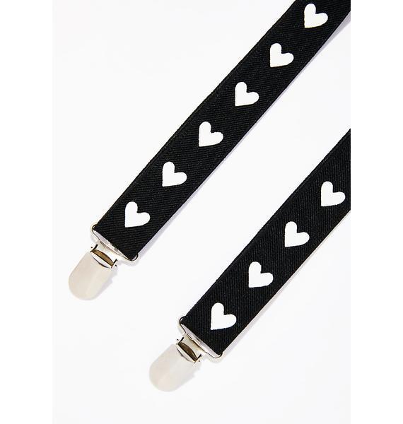 Heart On Your Steeze Suspenders