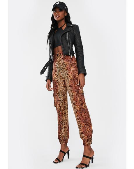 Leopard Matira Cargo Pants