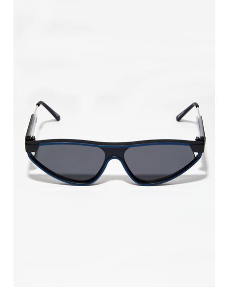 Navy Snap Sunglasses