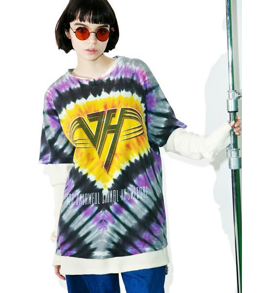 Vintage Van Halen '91 Tie Dye Tee
