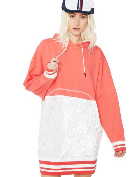 Velvet Hoodie Dress