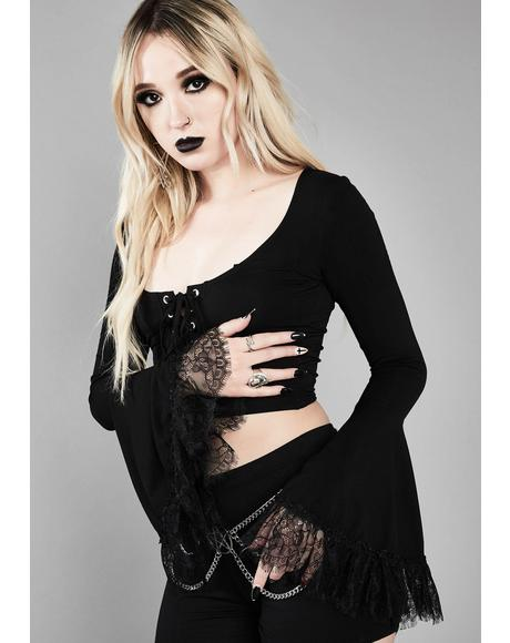 Immortal Tyrant Bell Sleeve Top
