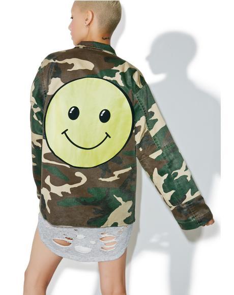 Mr.Smiley Camouflage Jacket
