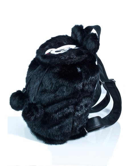 X Disney Mickey Mouse Faux Fur Backpack
