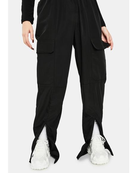 Black Josephine Track Pants