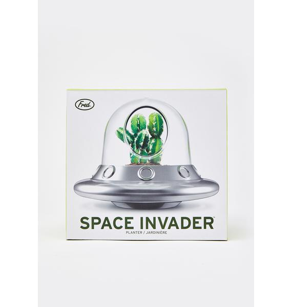 Space Invader Glass Planter