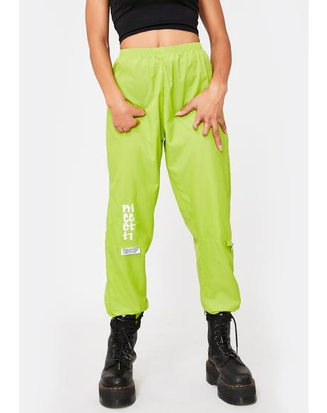 Lime Green Liberty Windbreaker Pants