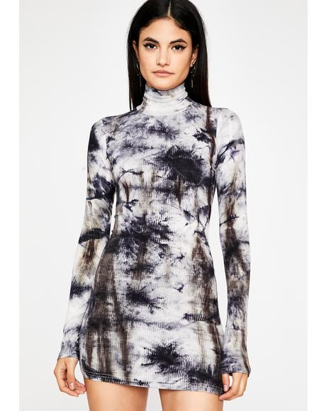 Off The Record Tie Dye Dress