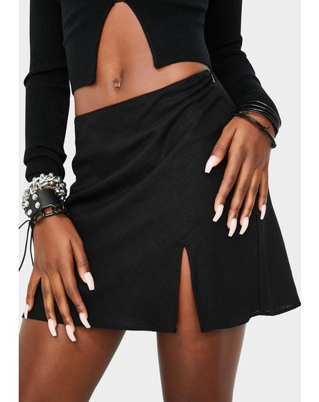 Midnight Ethereal Mood Mini Skirt