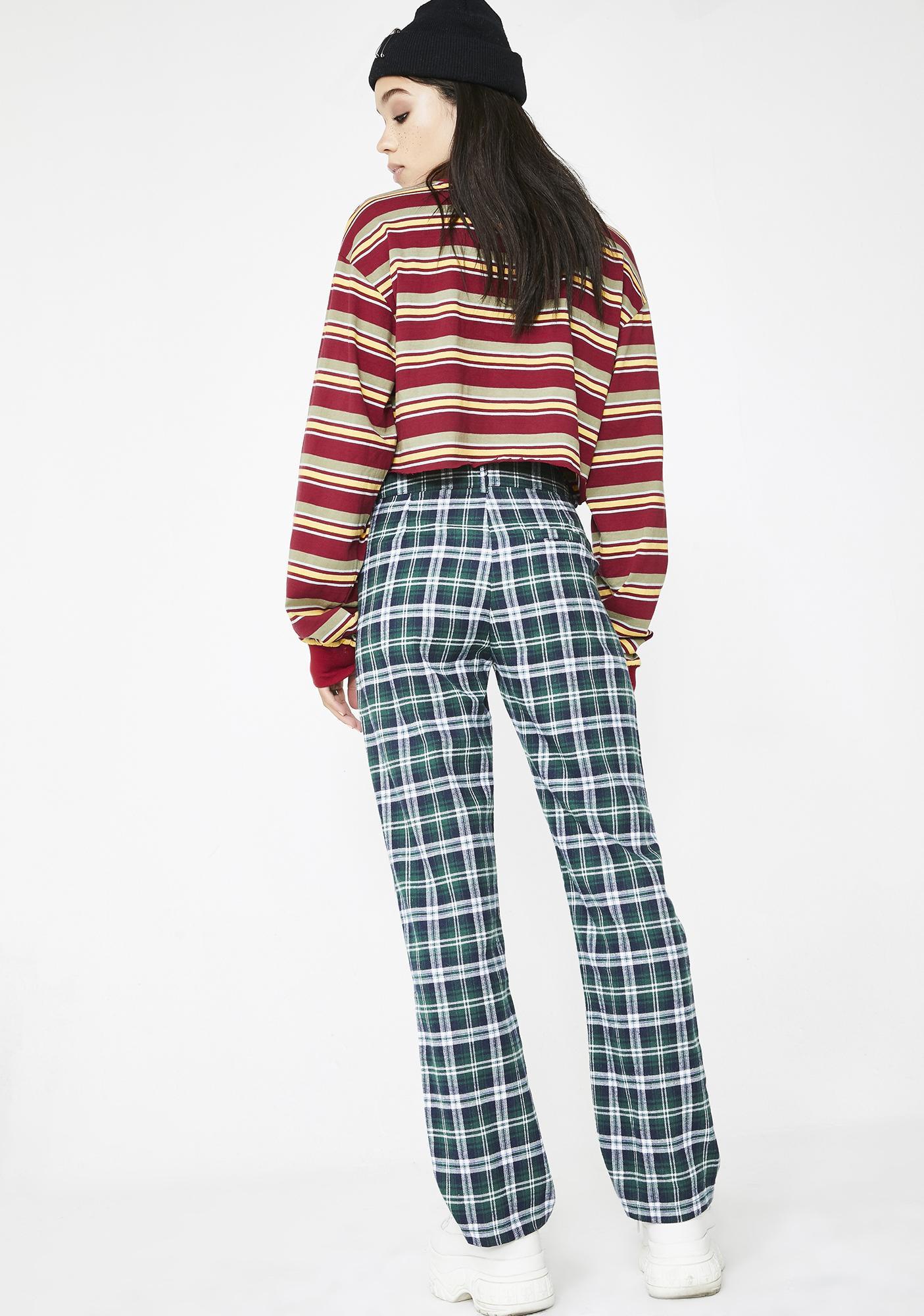 Post N' Delete Plaid Trousers