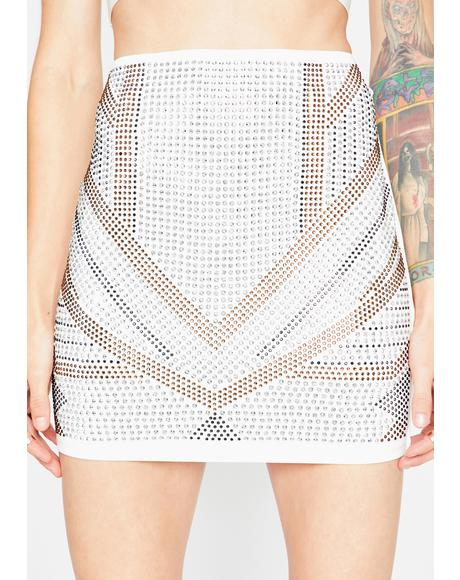 Icy Bling Byte Mini Skirt