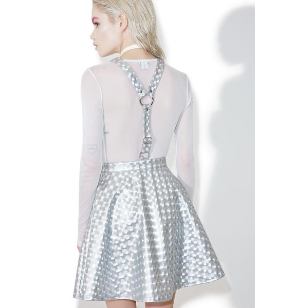 Current Mood Hyperion Hologram Overall Dress