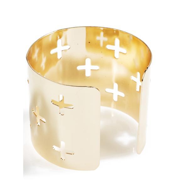 Cross Yer Heart Cuff Bracelet