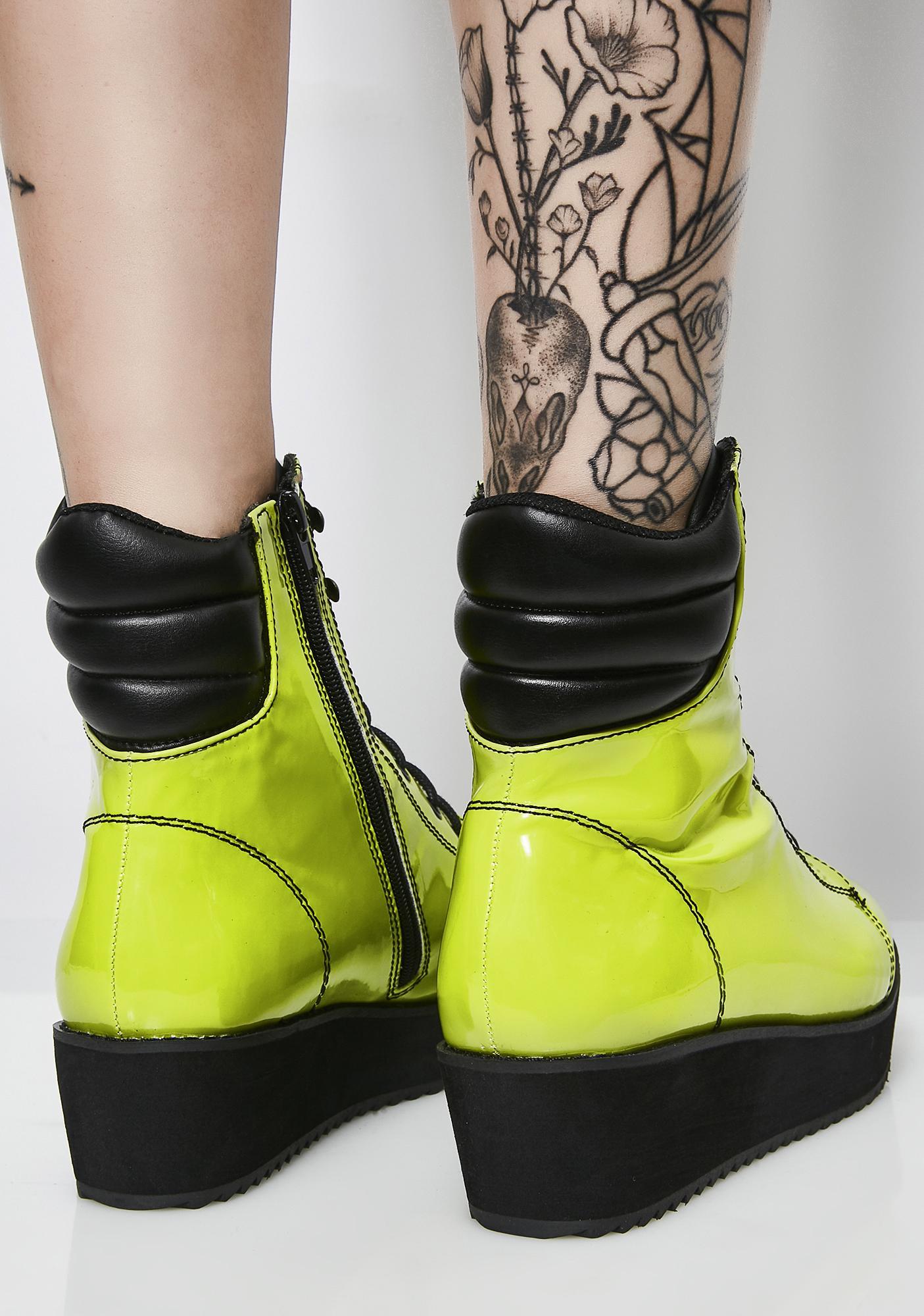 Strange Cvlt Neon Darby Boots