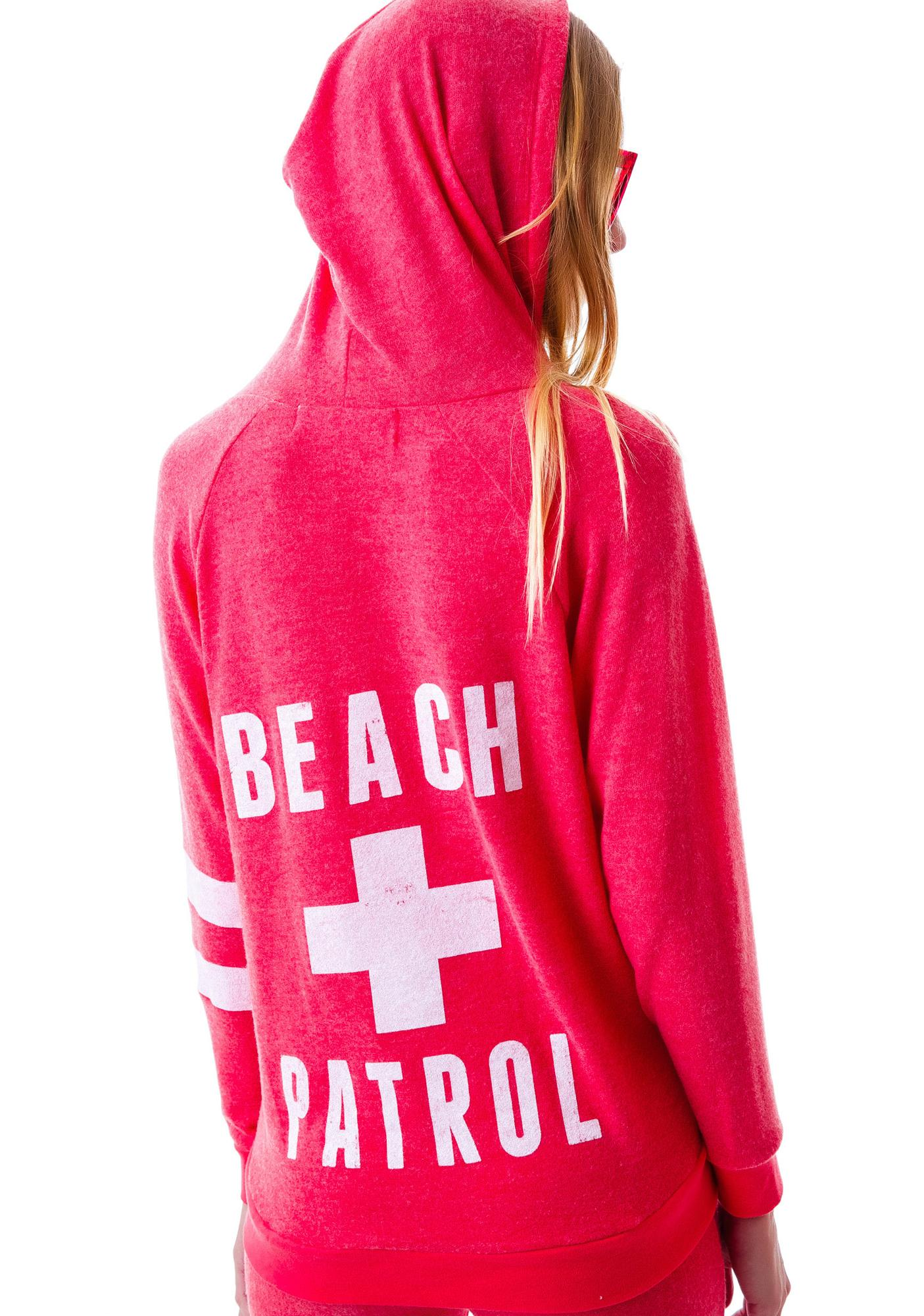 Beach Patrol Zip Up Hoodie