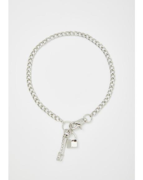 Lock Me Down Chain Necklace