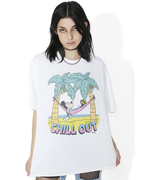 Chill Out White Tee