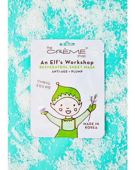 An Elf's Workshop Sheet Mask