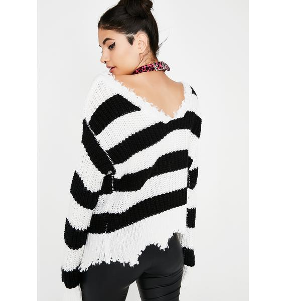 Take The Bait Striped Sweater
