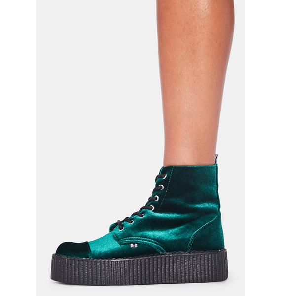 T.U.K. Green Velvet 7-Eye Viva Mondo Boot