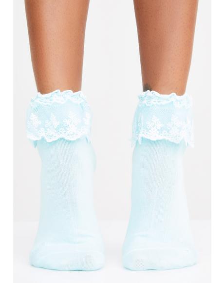 Berry Spoiled Rotten Ruffle Socks