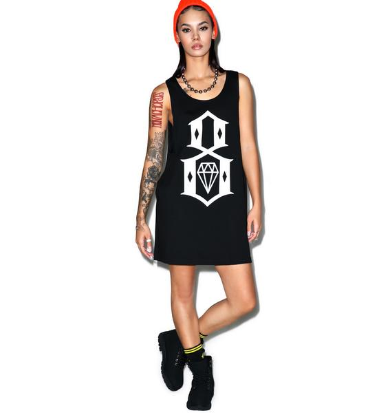 Rebel8 Long Logo Tank Top
