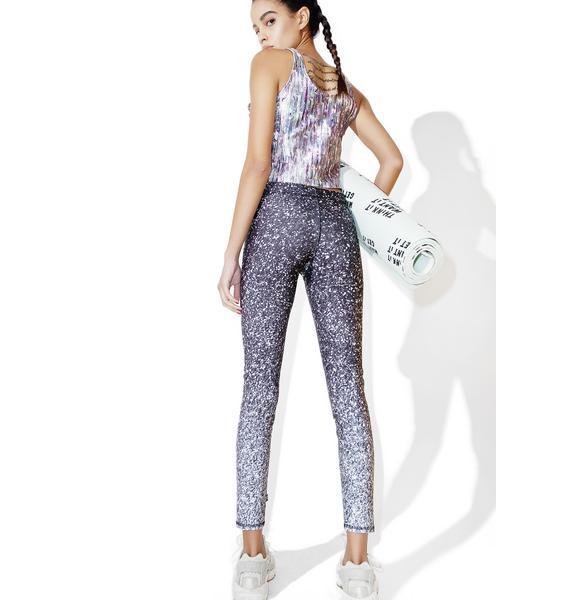 Terez Glitter Print Capri Leggings