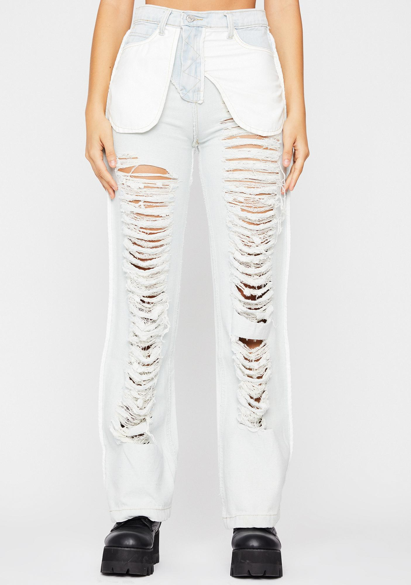 Let's Mosh Ripped Jeans