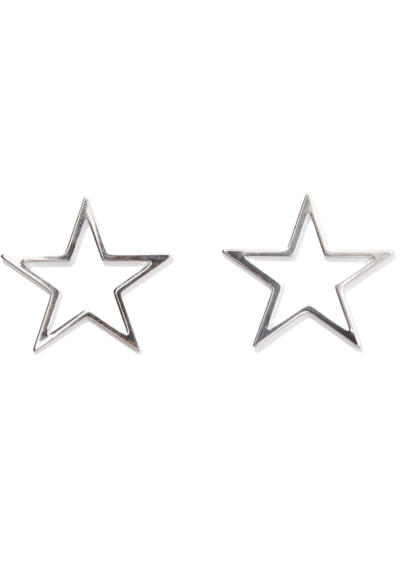 Night Sky Star Stud Earrings