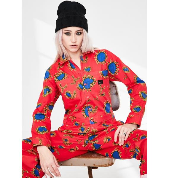 Obey Paisley Print Coveralls