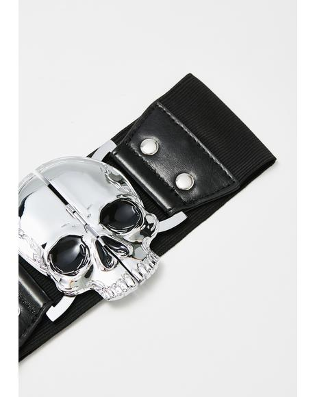 Elastic Waist Skull Belt