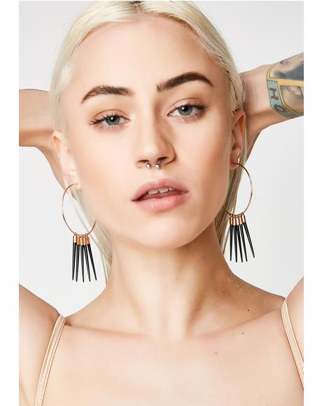Spike The Punch Hoop Earrings