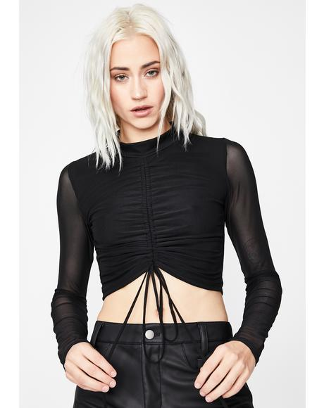 Pullin' Tricks Ruched Top