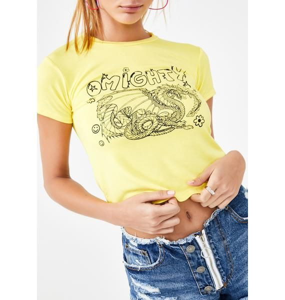 O Mighty Dragon Graphic Baby Tee