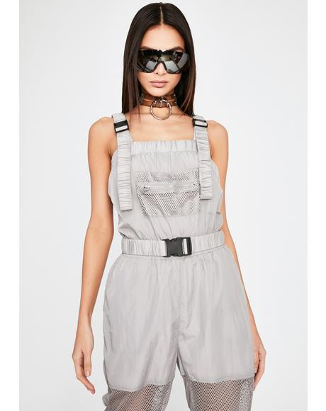 Twisted Techno Buckle Jumpsuit