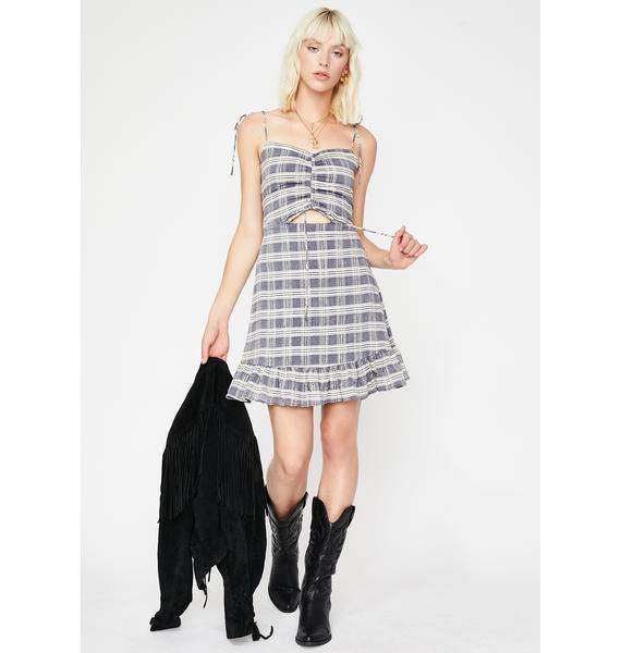 Moody Cutie Plaid Dress