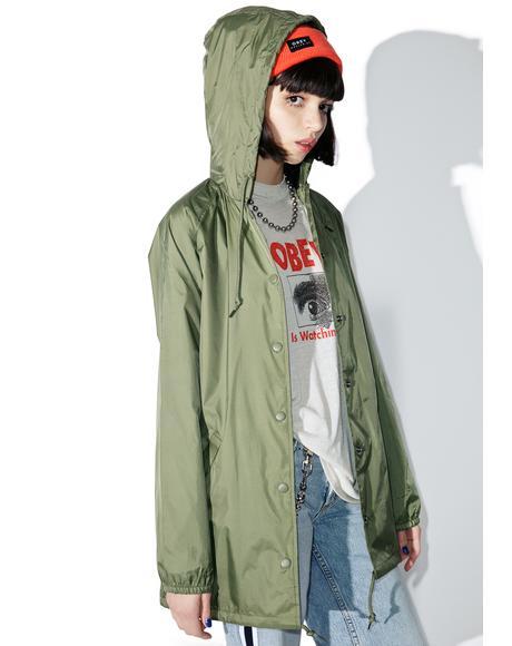 Hooded Logo Coaches Jacket