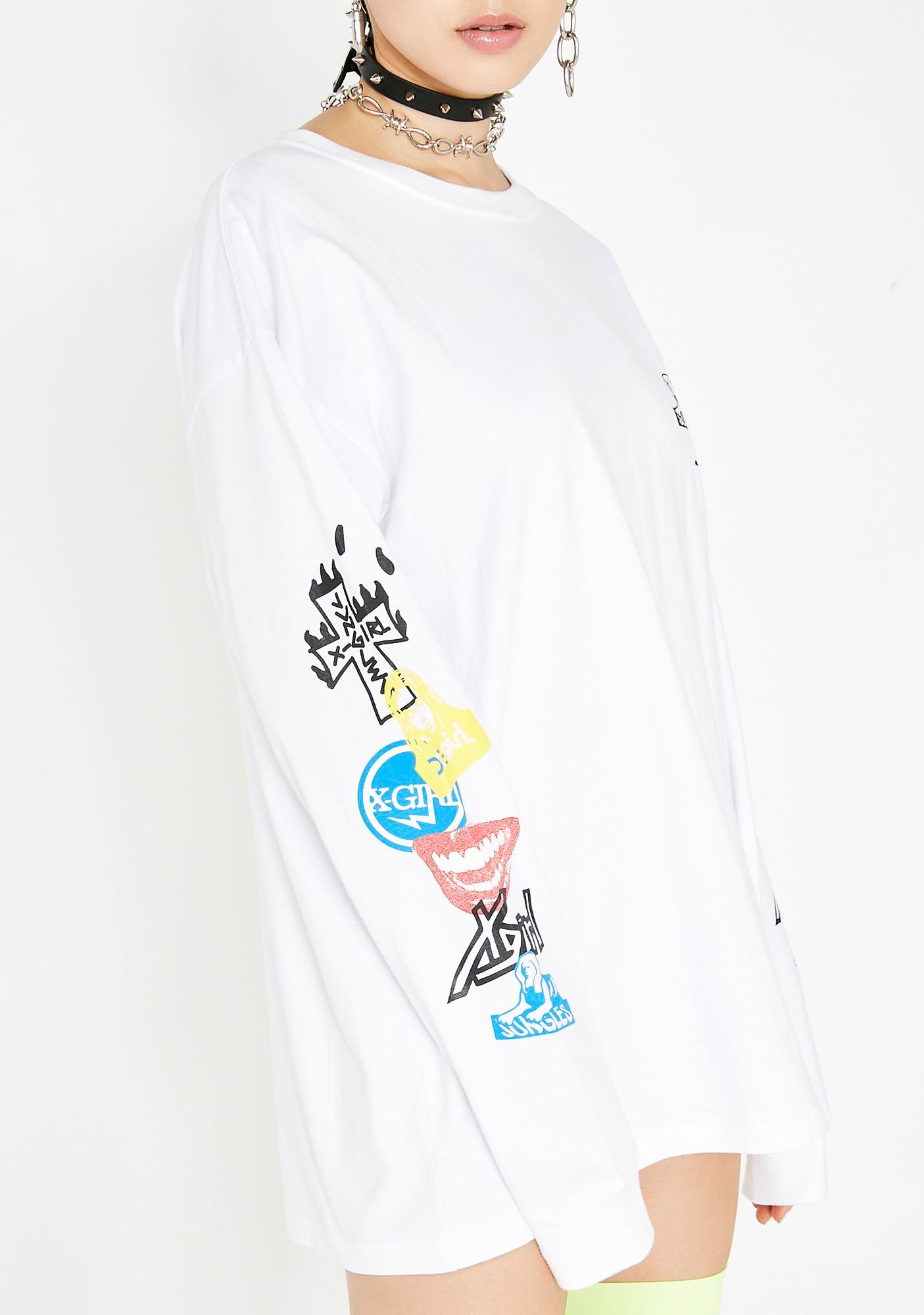 x-Girl x Jungles Sticker Slap Long Sleeve Tee