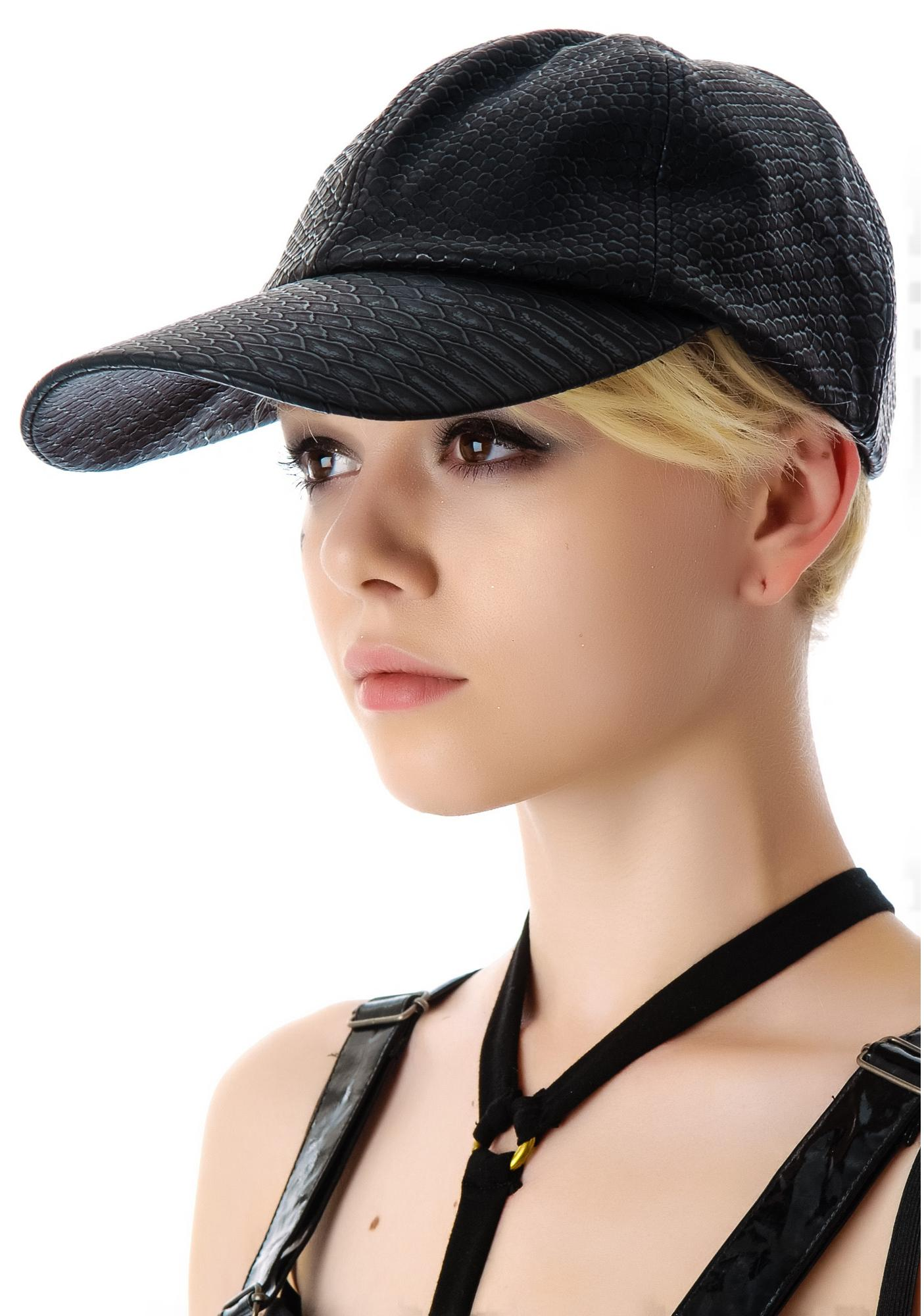 Widow Snake Print Baseball Cap
