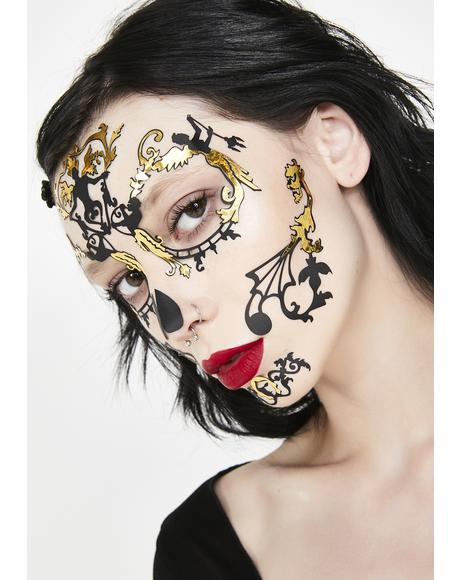 Day Of The Dead Baroque Face Lace