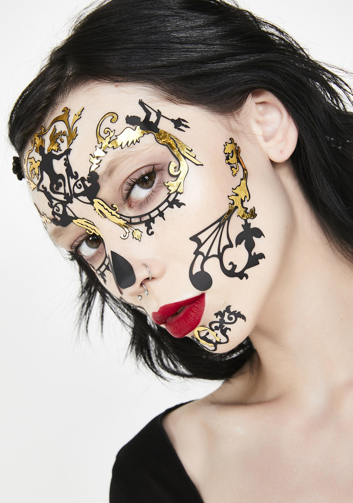 Face Lace Day Of The Dead Baroque Face Lace
