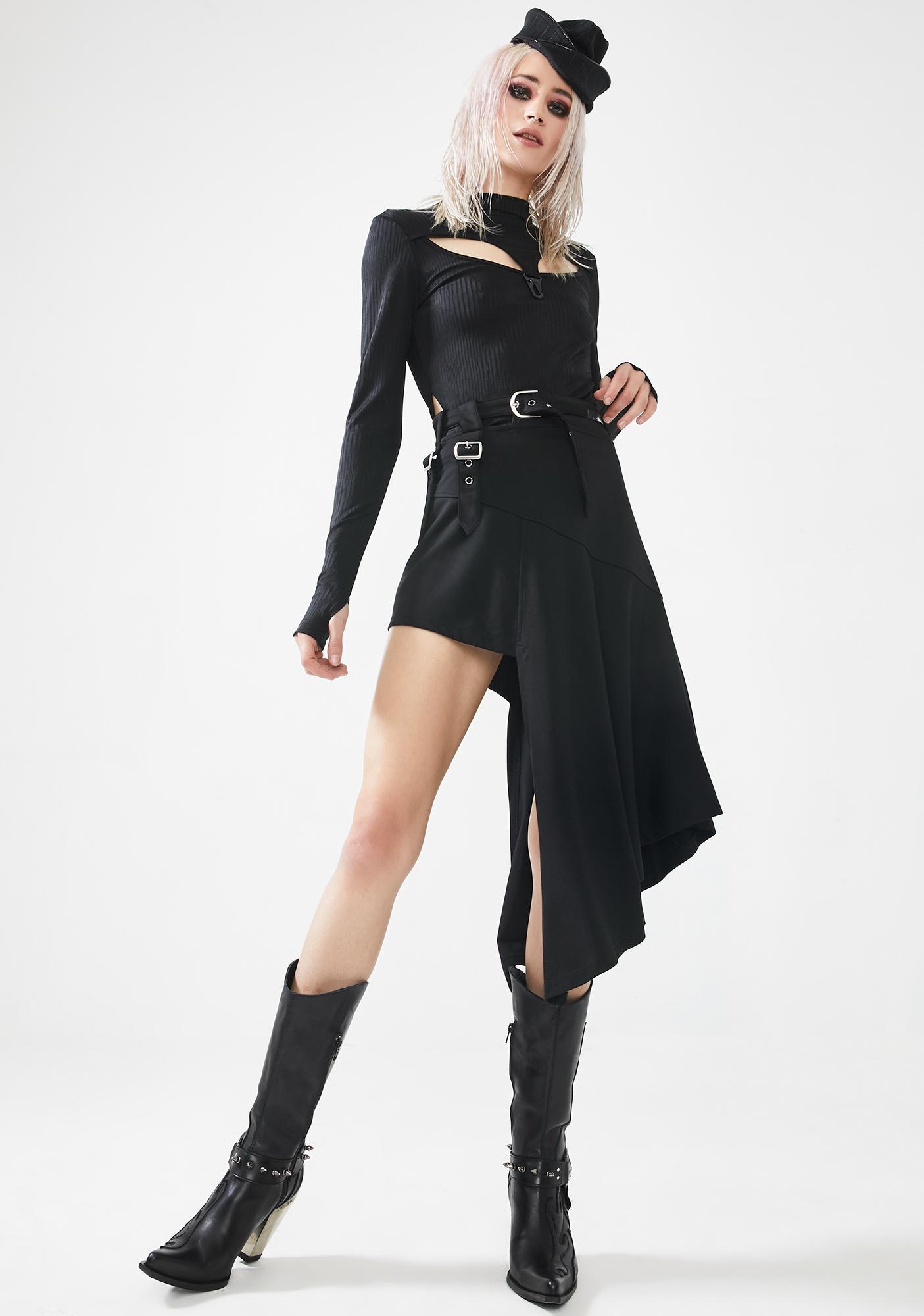 Punk Rave Punk Rock Irregular Midi Skirt