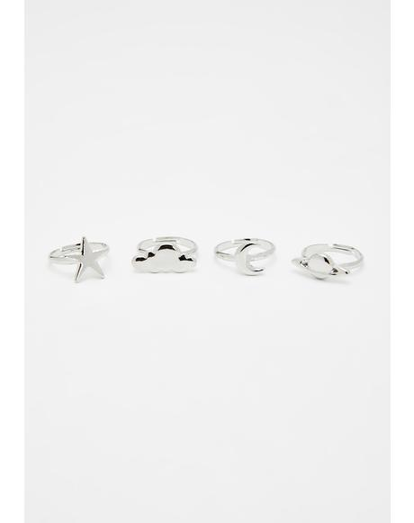 Divine Babe Ring Set