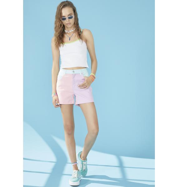 dELiA*s by Dolls Kill Pool Crush On U Colorblock Shorts